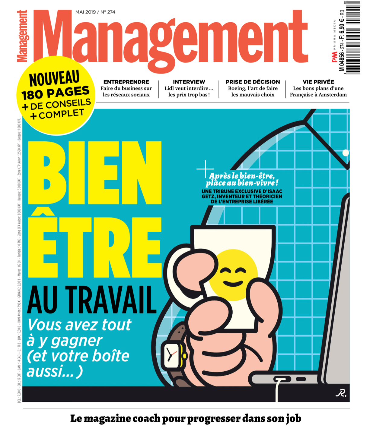 Editorial couverture magazine managment mai 2019